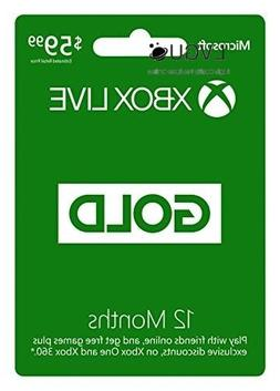 Xbox Live Gold 12 Month Membership Digital Code Play Online