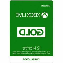 xbox live gold 12 month membership subscription