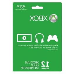 MICROSOFT CORPORATION Microsoft Xbox Live Gold Card - 12 mon