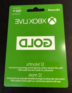 XBOX LIVE GOLD Membership Card    NEW