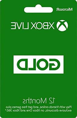 Microsoft Xbox Live 12 Months Gold Membership Card For XBOX