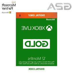 12 Month Xbox Live Gold Membership Code - Microsoft Xbox 360