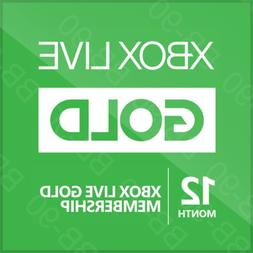Xbox One/360 Live - 12 Month Gold Membership Subscription -