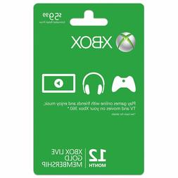 Xbox  Live 12 Month Gold Membership Subscription Card Instan