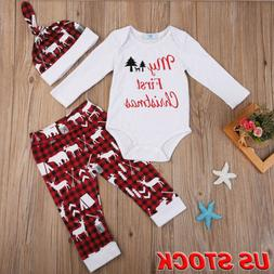 xmas kids baby boys girls outfits clothes