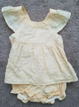 Gymboree Yellow Two Piece Outfit Baby Girl 12-18 Months NWT