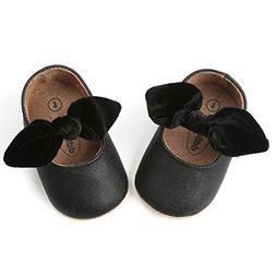 Z-T FUTURE Infant Baby Girls Shoes Cute Bow Diamonds Sparkly